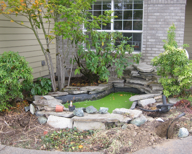 Water Feature Before